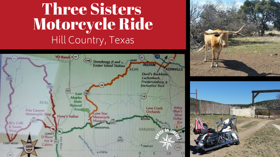 Three Sisters Motorcycle Ride In Hill Country Texas