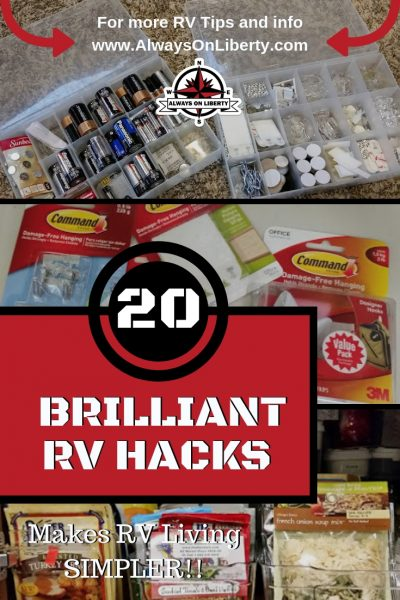 20 RV and Camper Hacks on a Dime - Always On Liberty