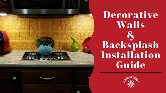 RV Interior Design and Decor: DECORATIVE WALLS & BACKSPLASH