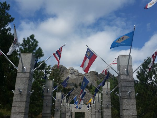 AOL_Mount Rushmore Busts Flags