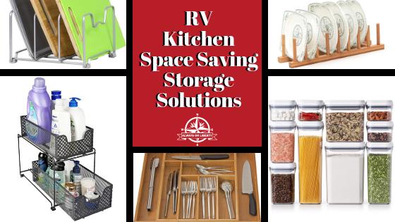 RV Kitchen Space Saving Storage Solutions - Always On Liberty