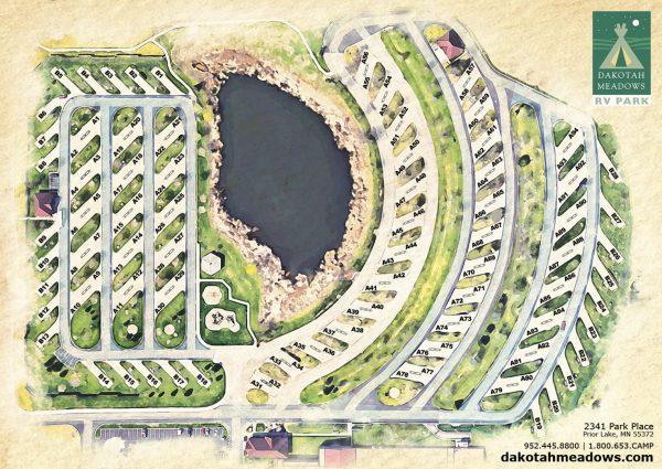 Dakota Meadows RV Park Map