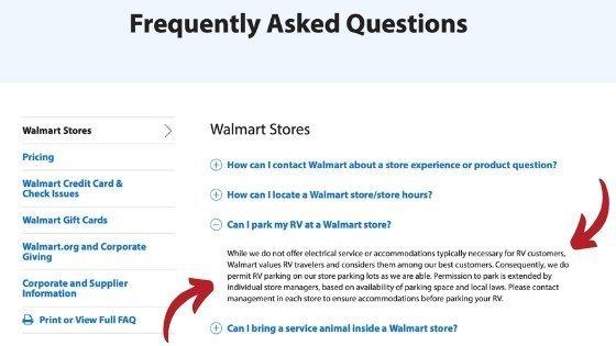 Walmart Parking Policy